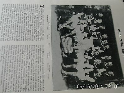 aston villa & sheffield wednesday team groups F.A.Cup winners 1895 & 1896
