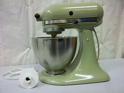 Kitchen Aid Green Counter top Mixer with Metal Bowl