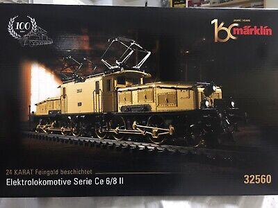 """Märklin 32560 E-Lok Ce 6/8 II SBB""""Krokodil"""" vergoldet mfx Decoder Sound NEU OVP"""