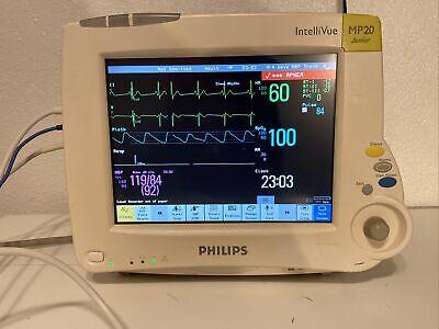 Philips Intellivue Mp20 Junior Sw D.00.58 Anesthesia Patient Monitor Patient Rea