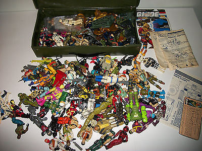 GI Joe Vintage Hasbro 1980s Lot Original Lot Weapons 83+ Figures Parts