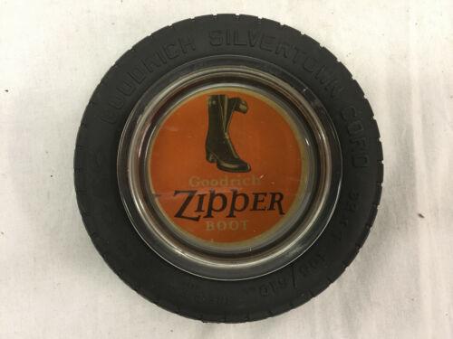 Goodrich Zipper Boot Ash Tray Insert in Goodrich Silvertown Cord Tire Ashtray