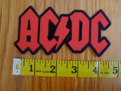 AC/DC Embroidered Patch RED LOGO classic rock HARD ROCK battle jacket 70S 80S