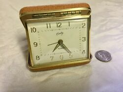 VINTAGE Bradley Wind Up Travel Alarm Clock Working