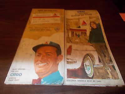 1967 Citgo OHIO Vintage Road Map