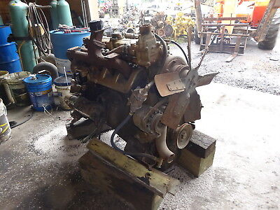 Hercules White D4800 Diesel Engine Rare 6 Cyl Generator Power Unit D-4800
