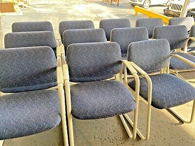 Guestlobbyside Chair By Allsteel Office Furniture In Designer Blue Fabric