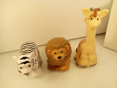 Fisher Price Little People Zoo Talkers Lot of 3 Tiger Lion Giraffe M #67