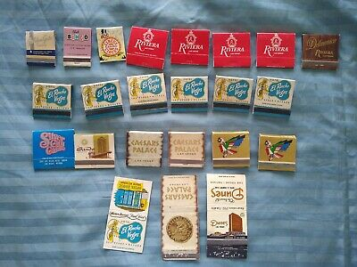 Vintage Lot Of 23 Las Vegas Match Covers And Match Books