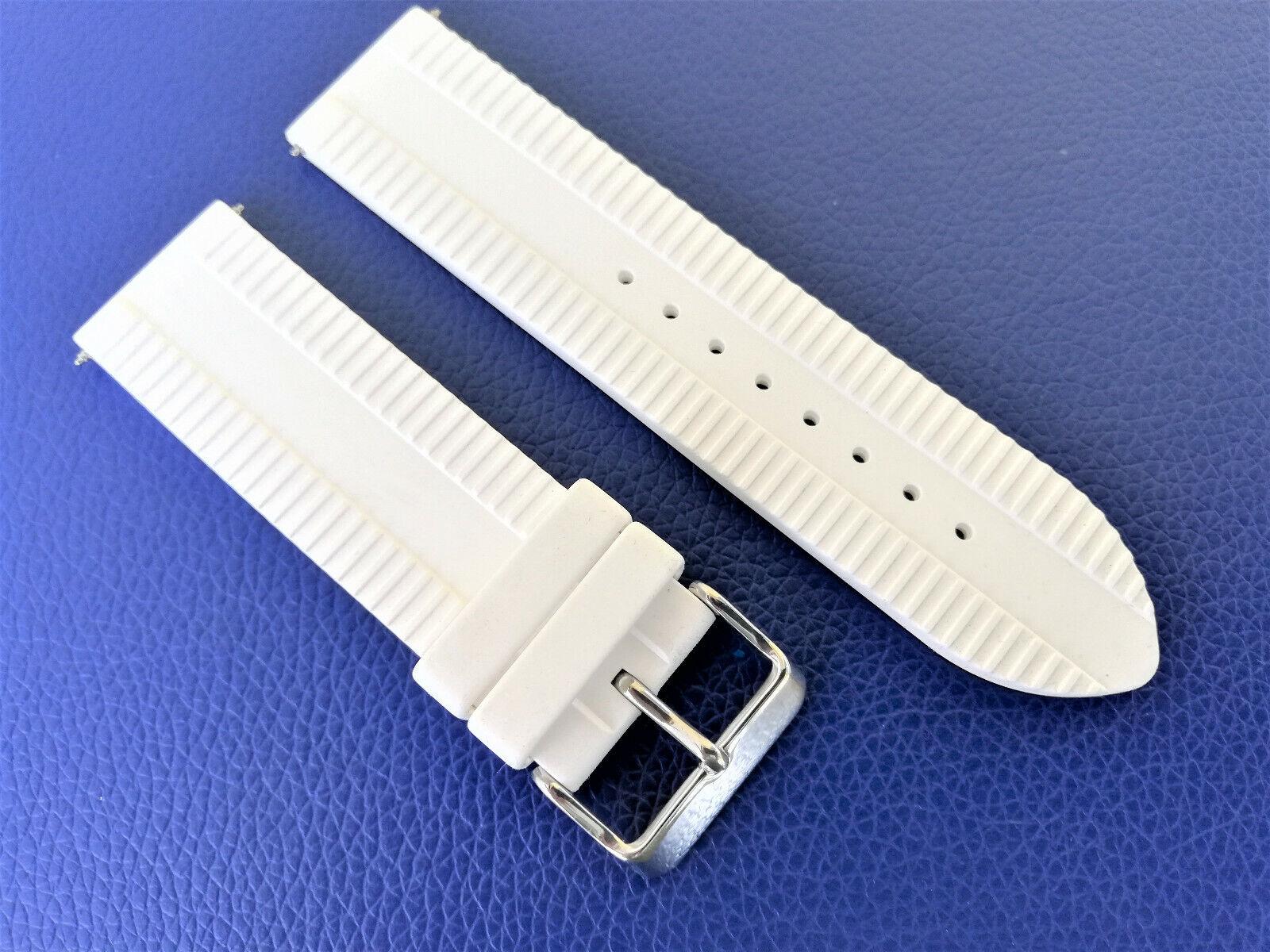 Original GUESS Uhrenarmband PHANTOM W17545G1 armband Silikon 24 mm weiss white