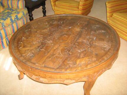 Coffee Table Round Timber