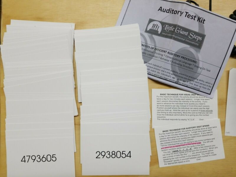 Auditory Test Kit Little Giant Step Cards