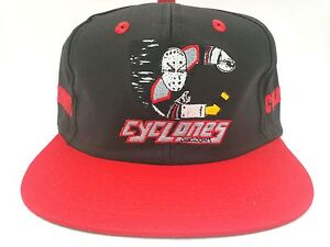 Cincinnati Cyclones Hockey Black/Red Vintage Snapback Flatbill Hat,Cap