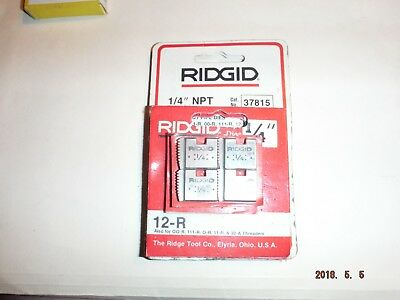 Ridgid 37815 Model 12-r 14 Npt Right Hand Pipe Threading Dies 18 Tpi