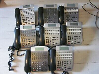 Nec Dterm Ip Office Telephone Itr-32d-3 Bkdisplay Phone Lot Of 8