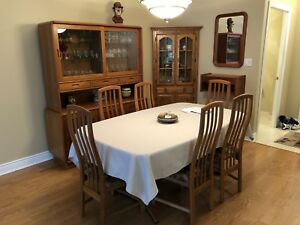 Teak Dining table chairs and buffet