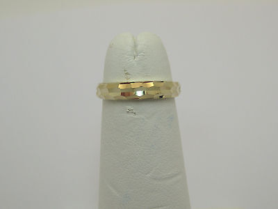 Solid 14k Yellow Gold Dainty Diamond Cut Toe Ring