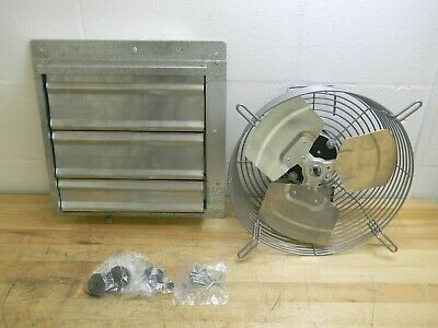 Tpi 12 Direct Drive Exhaust Fan W Shutter 3 Speed 120v 1.1 Amp Ce 12-d