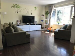 Sofa, TV stand and TV on sale
