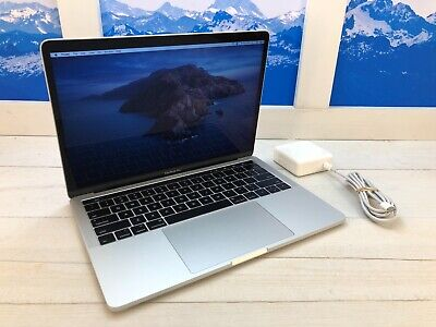 """Apple MacBook Pro Touch Bar 2017 13"""" Laptop 256GB 3.1GHz 8GB RAM Silver 6 cycles"""