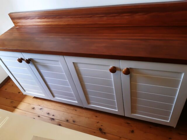 Kitchen buffet white and wood | Cabinets | Gumtree ...