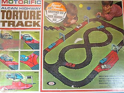 Vintage 1965 Ideal Motorific Alcan Highway Torture Track Set, w/Ferrari
