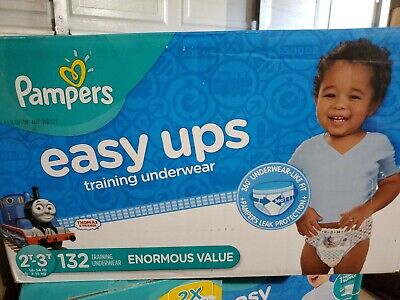 Pampers Easy Ups Training Pants Pull On  Diapers, Boys 3T-4T 132 Count