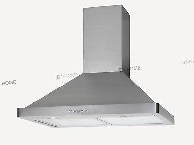 "Kitchen Panel Range Hood Stove 30"" Stainless Steel Wall Mount Electronic Switch"