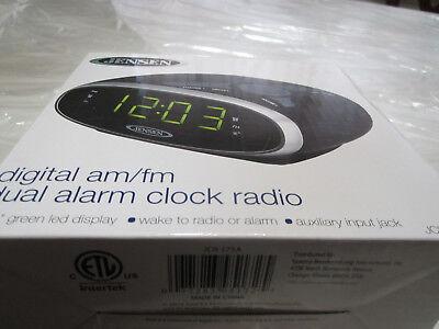Jensen JCR175  AM/FM Alarm Clock Radio with 0.9-Inch Green L
