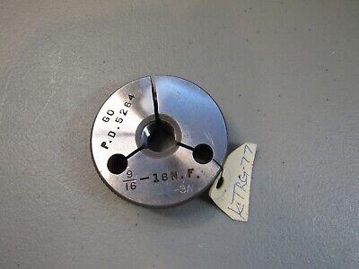 Taft Peirce Machinist Thread Ring Gauge 916-18 N.f.-3a Go Only P.d. .5264
