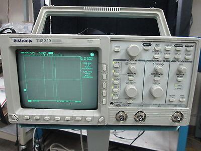 Tektronix Tds350 Oscilloscope 2-ch 200mhz 1gss Sn B032571 W K212 Portable Kart
