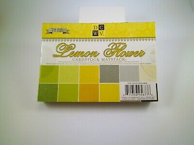 NEW Die Cuts with a View Lemon Flower 4.5 x 6.5 Glitter Cardstock RETIRED RARE