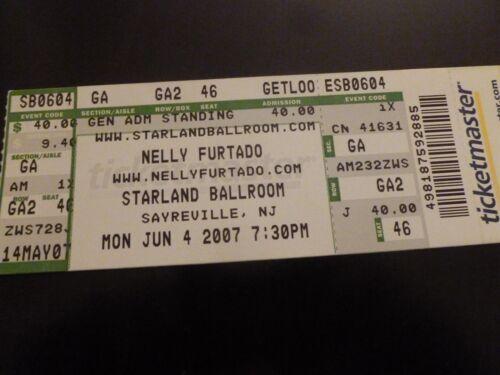 Nelly Furtado 2007 Concert Ticket Stub Starland Ballroom NJ