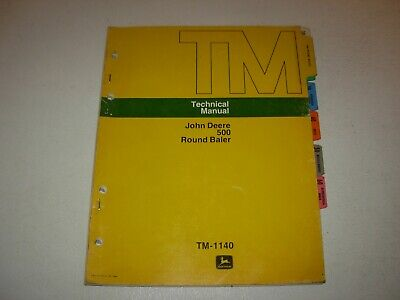 John Deere 500 Round Baler Technical Manual Tm-1140 Issued 1975