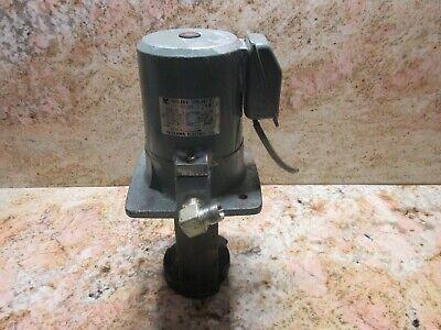 Yaskawa Coolant Pump Type Yfpc-18djf 0.18kw Mori Seiki Sl-0 Cnc Lathe Short