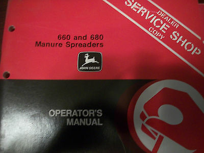 John Deere Operators Manual 660 And 680 Manure Spreaders Issue D2