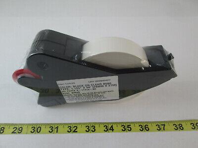 New Brady Label Maker Supply Tape Cartridge Black On Clear B580 1.125 X 90
