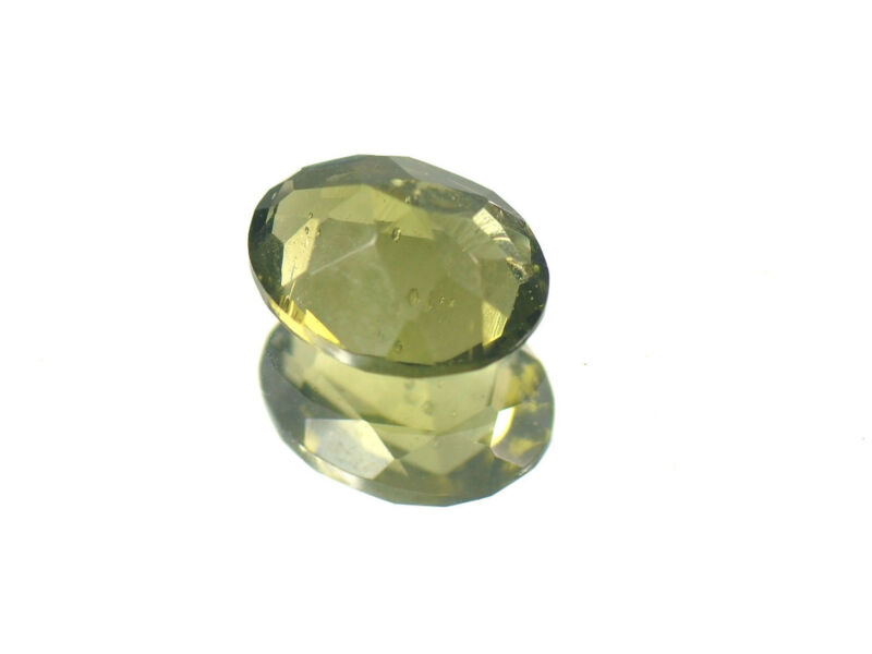 1.31cts OVAL standart cut 9x7mm moldavite faceted cutted gem BRUS1265