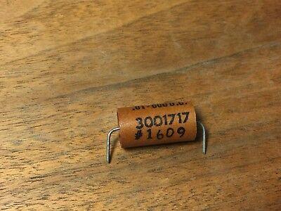 Nos Sprague Audio Capacitor .01uf 600v 10 3001717 Paper In Oil Pio .01mfd