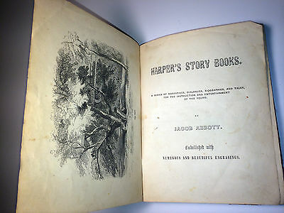 Rare Antique Childrens Book C 1856  The Great Elm  Ny Illustrated  Inscribed