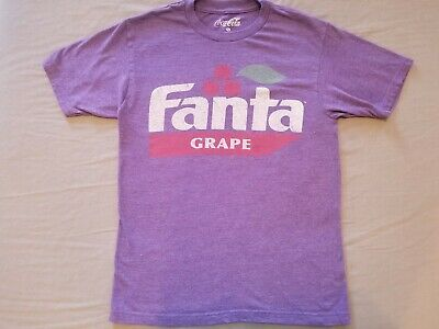 Soft drink Grape FANTA Coca-Cola T-shirt Size Small