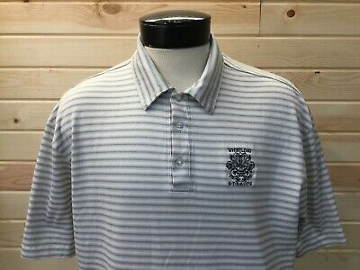 Nike Tiger Woods Collection Golf Polo Shirt Men's XL Beige Whistling Straights