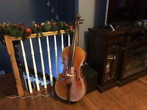 Never been used 4/4 cello, bow, and hard case