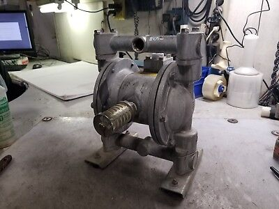 Yamada 34 Stainless Steel Air Operated Double Diaphragm Pump Ndp-20bst
