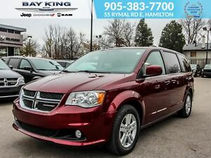2018 Dodge Grand Caravan CREW PLUS, NAV, BLUETOOTH, BACK UP CAM,