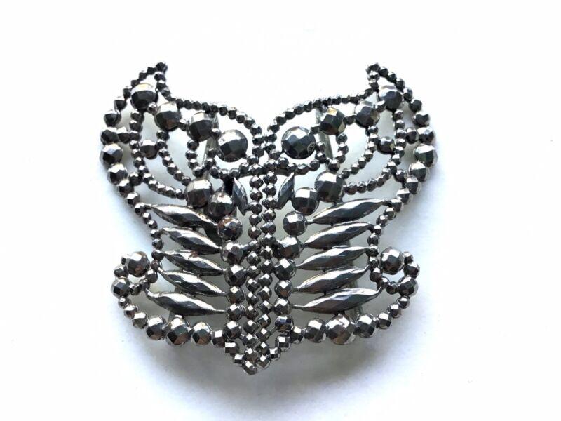 Antique Georgian / Victorian Steel Cut Riveted Butterfly Belt Buckle