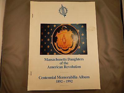 Massachusetts Daughters of the American Revolution Memorabilia Album 1892-1992