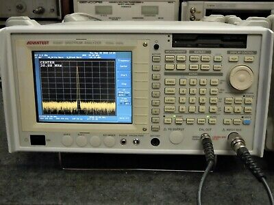 Advantest R3267 Spectrum Analyzer 100 Khz To 8 Ghz With 7 Options - Working