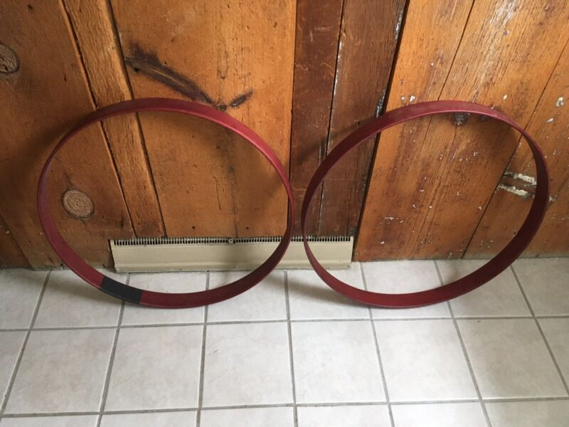 Set Of 2 Wood Bass Drum Hoops Red