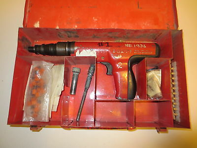 Hilti Dx-350 Powder Actuated Fastening Systems Nail Gun Kit With Case